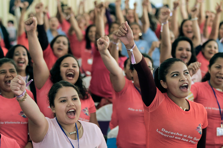 Defensa de los derechos de mujeres trabajadoras de Maquilas, Nicaragua